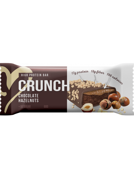 BootyBar Протеиновый батончик Кранч Фундук в шоколаде (60г)