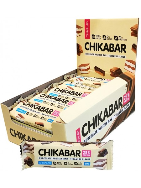 ChikaLab Батончик глазированный Тирамису с молочной начинкой (60 грамм)