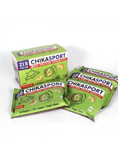 ChikaLab Шоколад с кешью протеиновый молочный (100 г)