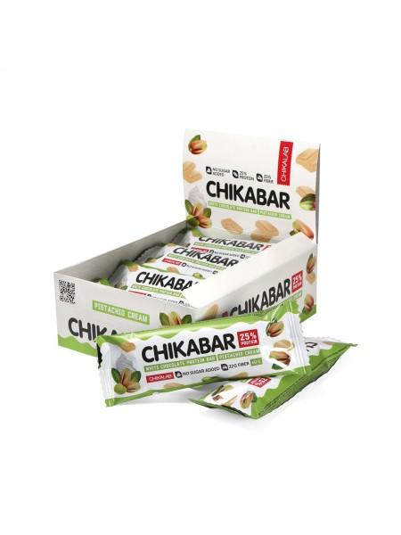 ChikaLab Батончик Фисташковый крем глазированный белым шоколадом (60 грамм)