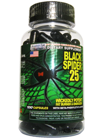 1250, Cloma Pharma Black Spider (100 капсул), , 2 400 RUB, Black Spider, ClomaPharma Laboratories, Жиросжигатели