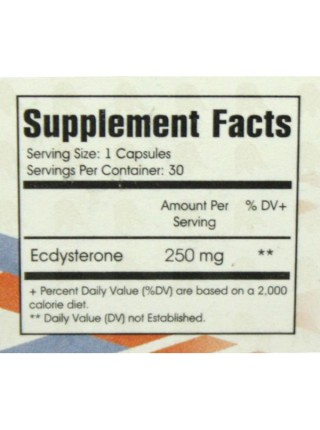 Fitness Formula Экдистерон Ecdysterone 3000 250 mg (30 капсул)