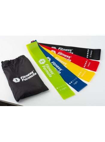 Fitness Formula Фитнес резинки (эспандер для фитнеса) - 5 шт + сумочка , , 690 RUB,  Фитнес резинки, Fitness Formula, Экипировка для занятий спортом