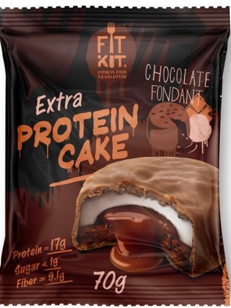 Fit Kit Протеиновое пирожное EXTRA Шоколадный фондан  (70 g)