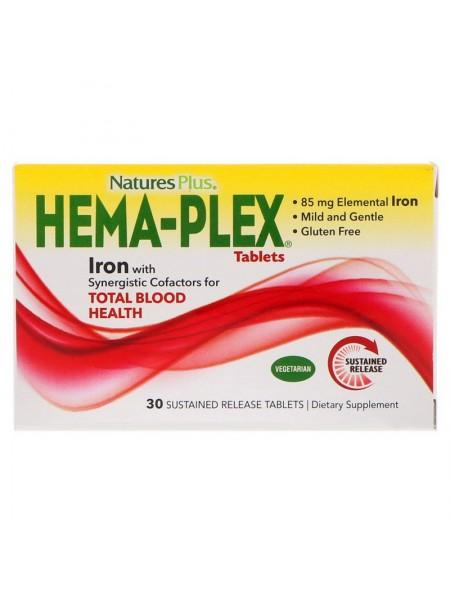 Nature's Plus Hema-Plex (30 таблеток)