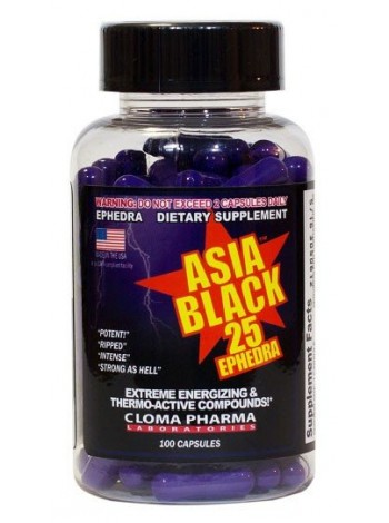 1256, Cloma Pharma Asia Black 25 (100 капсул) , , 2 500 RUB, Asia Black-25 , ClomaPharma Laboratories, Жиросжигатели