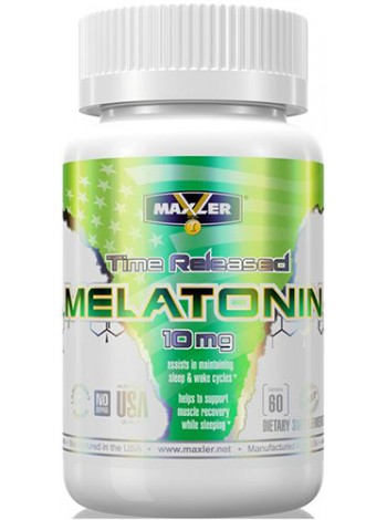 1191, Maxler Melatonin 10 mg (60 капсул), , 590 RUB, Melatonin 10 mg, Maxler , Улучшение сна