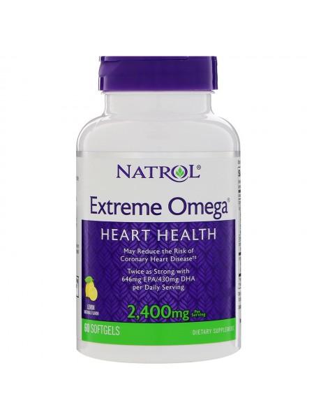 Natrol Extreme Omega  2.400 мг (60 мягких таблеток)