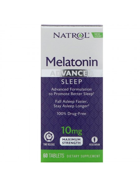 Natrol Sleep Melatonin, медленное высвобождение 10 mg (60 tabs)