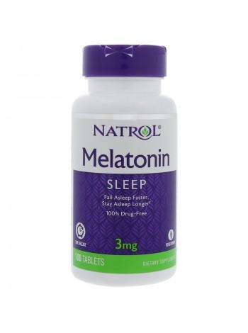 Natrol Melatonin постепенного высвобождения 3 mg (100 таблеток) , , 600 RUB, Melatonin постепенного высвобождения 3 mg, Natrol, Улучшение сна