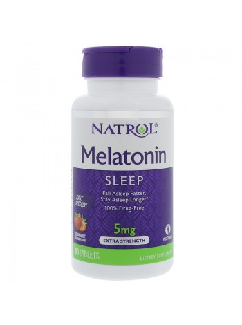 1140, Natrol Sleep Melatonin быстрорастворимый 5 mg (90 tabs), , 750 RUB, Melatonin Fast Dissolve 5 mg, Natrol, Улучшение сна