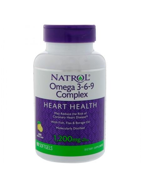 Natrol  Omega 3-6-9 1.200 mg (90 капс)