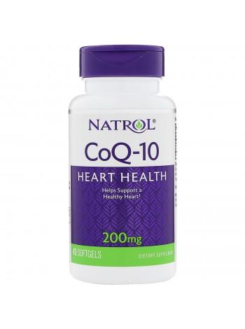Natrol Q10 200 mg (45 капсул) , , 1 400 RUB, Q10 200 mg, Natrol, Антиоксиданты