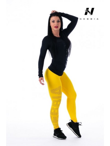 Nebbia Leggings Supplex Tights Laser 211 Yellow