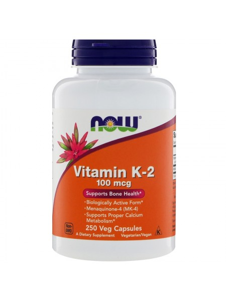 Now Vitamin K-2 MK-4 100 mcg 250 (caps)
