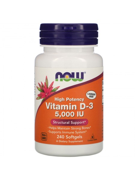 NOW Vitamin D-3 5 000 IU (240 caps)