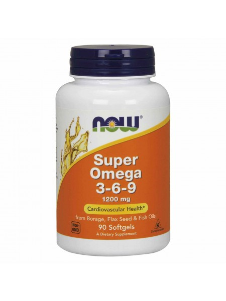 NOW Foods Super Omega-3-6-9 1200 мг (90 caps)