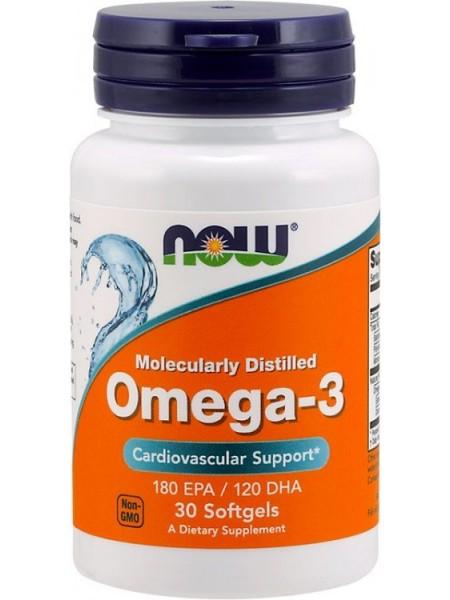 NOW Omega-3 180 EPA/120 DHA ( 30 caps)