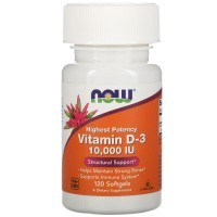 NOW Vitamin D-3 10 000 IU (120 caps)
