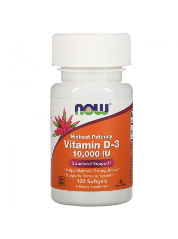 NOW Vitamin D-3 510.000 IU (120 caps) , , 1 200 RUB, Vitamin D-3 10000, NOW Foods, Витамины и минералы