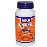 NOW Hyaluronic Acid 100MG 2X PLUS (60 vcaps) Гиалуроновая кислота