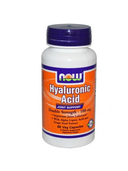 NOW Hyaluronic Acid 100MG 2X PLUS (60 vcaps)