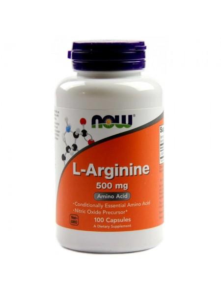 NOW L-Arginine 500 мг (100 caps)