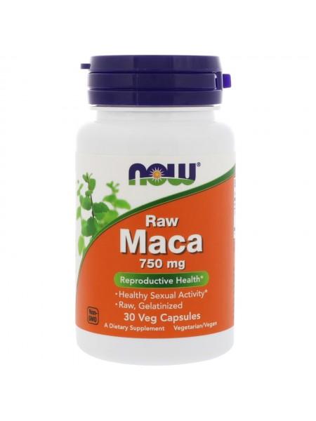 NOW Foods MACA 750 мг Необработанная мака (30 caps)