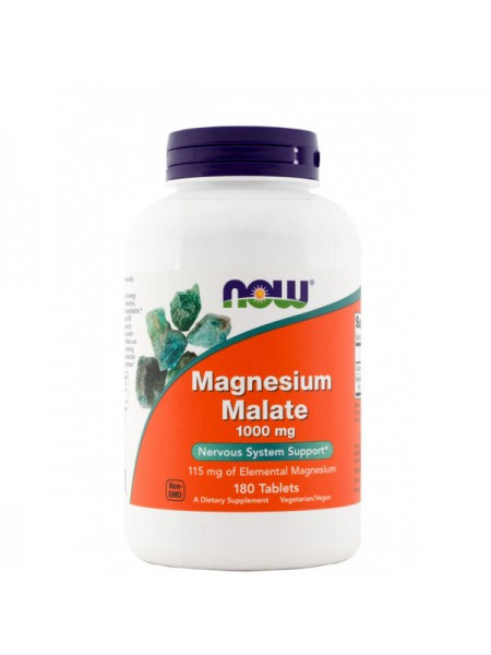 NOW Magnesium Malate 1000 мг (180 таблеток)