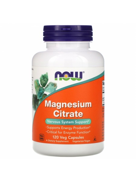 NOW Magnesium Citrate, Магний Цитрат 200 мг - (120 капсул)