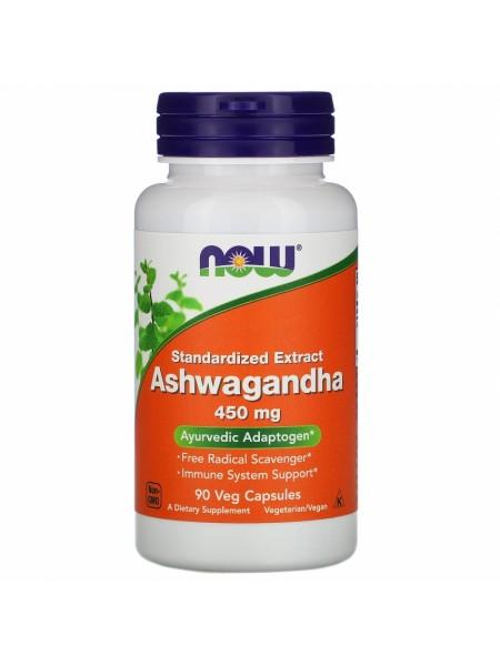 NOW Ashwagandha, Ашваганда Экстракт, 450 мг - (90 капсул)