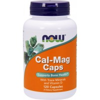 NOW Calcium and Magnesium with trace minerals and Vitamin D (120 капс)