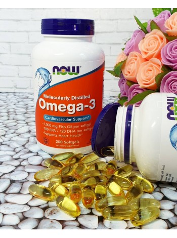1271, NOW Foods Omega-3 180 EPA/120 DHA  (200  caps) , , 1 450 RUB, Foods Omega-3, NOW Foods, OMEGA 3 ( Рыбий жир и полезные жиры)