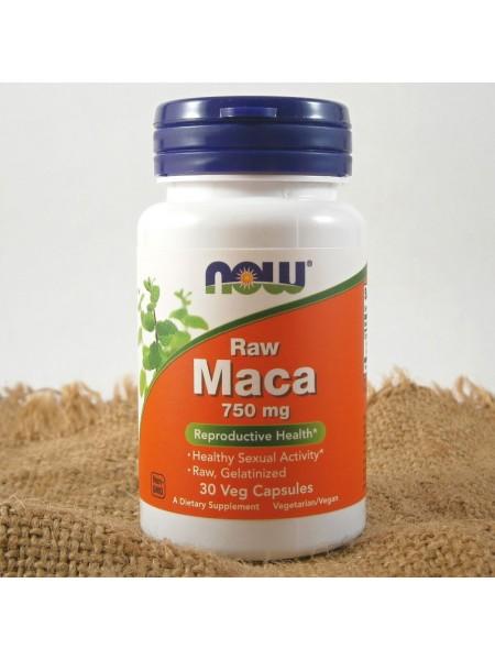 NOW MACA 750 мг Необработанная мака (30 caps)