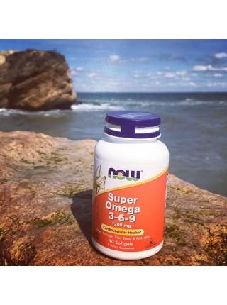 NOW Super Omega-3-6-9 1200 мг (90 caps)