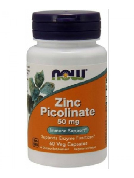 NOW Foods Zinc Picolinate 50 mg (60 капс)