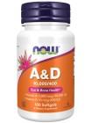 NOW Vitamin A&D 10000/400 (100 капс), , 490 RUB, Vitamin A&D 10000/400, NOW Foods, Витамины и минералы