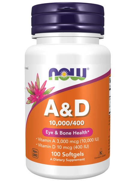 NOW Vitamin A&D 10000/400 (100 капс)