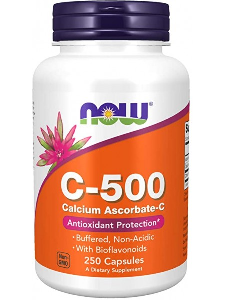 NOW Vitamin C-500 Calcium Ascorbate (250 капс)