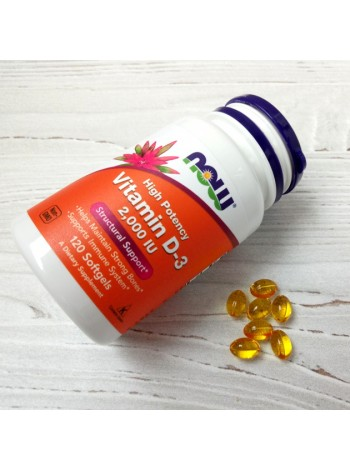 NOW Vitamin D-3 2 000 IU (120 caps) , , 800 RUB, Vitamin D-3 5,000, NOW Foods, Витамины и минералы
