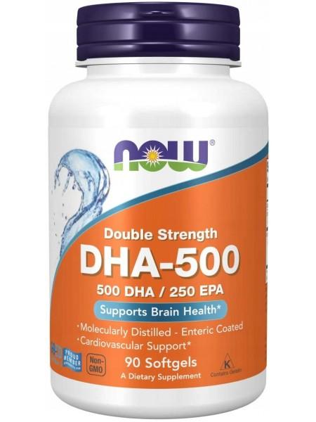 NOW Omega-3 DHA-500, Омега-3 500DHA/250EPA (90 caps)