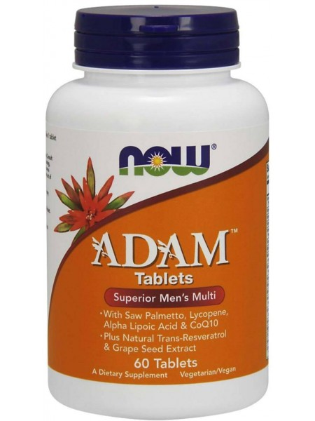 NOW Foods Adam Mens Multivitamin (60 tabs)