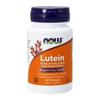 NOW Lutein 10 mg  Лютеин (60 гел. капул)