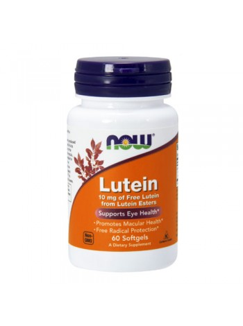 NOW Lutein 10 mg  Лютеин (60 гел. капул) , , 690 RUB, Lutein 10 mg  Лютеин, NOW Foods, Биологически активные добавки (БАД)