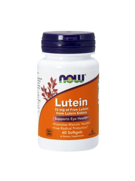NOW Foods Lutein 10 mg  Лютеин (60 гел. капул)