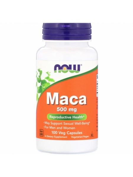 NOW Maca, Мака Перуанская 500 мг - (100 капсул)