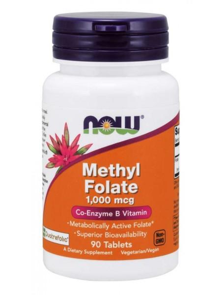 NOW Methyl Folate 1000 mcg, Метил Фолат (90 tab)
