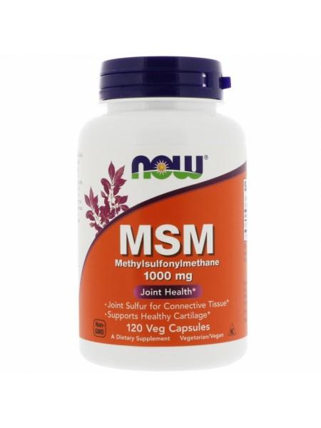 NOW MSM, МСМ Метилсульфонилметан 1000 мг - (120 капсул)