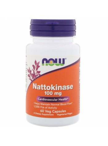 NOW Nattokinase, Наттокиназа 100 мг - (60 капсул), , 1 400 RUB, Nattokinase60, NOW Foods, БАДы для укрепления здоровья