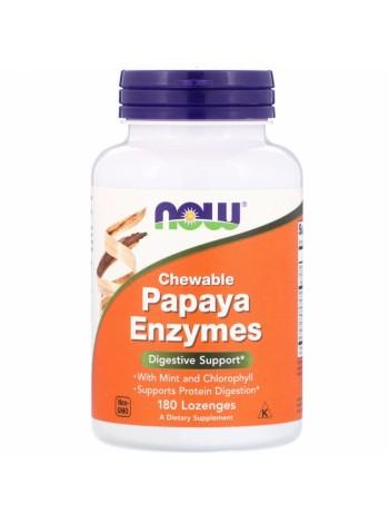 NOW Papaya Enzymes, Папайя Энзимы - (180 жевательных таблеток), , 800 RUB, Papaya Enzymes, NOW Foods, БАДы для укрепления здоровья